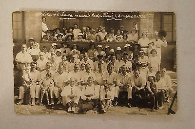 St.Kilda Crimea Masonic Lodge Picnic to Seaford -Collectable -Vintage -Postcard.