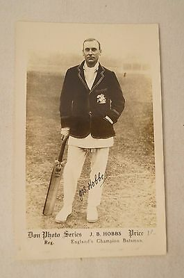 Vintage - Collectable - J.B. Hobbs - Cricket - Photo Postcard.