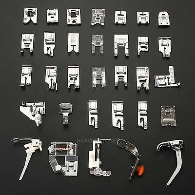 32 Pcs Sewing Machine Presser Foot Set For Janome Brother Singer Domestic Parts