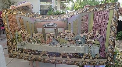 The Last Supper Tapestry Wall Hanging - 69 in x 33 inches-  Large