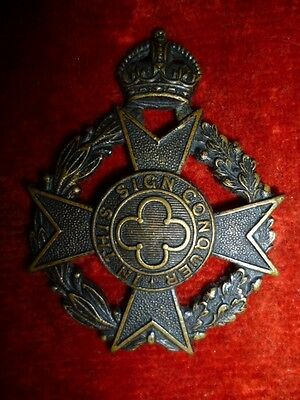 The Canadian Chaplain Service Cap Badge, Scully Maker Marks - Canada WW2