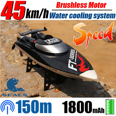 RC Racing Boat FT012 4CH Brushless Motor Water Cooling High Speed 2.4GHz