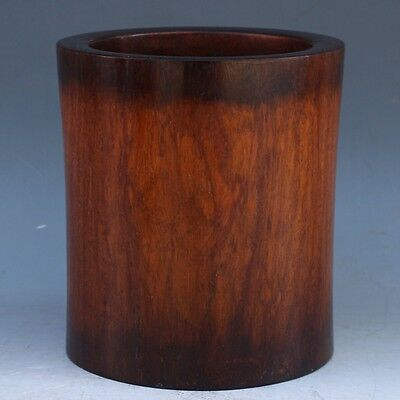 Chinese Exquisite hand-carved Wood Brush pot