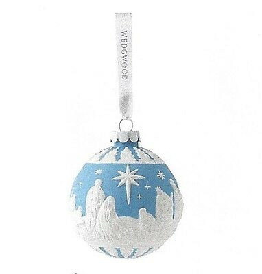 Wedgewood Nativity Christmas Ornament in Blue New in Box