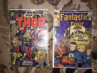 Fantastic Four 45 And Journey Into Mystery 123 VG F