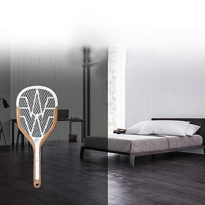 USB Recharging Hand Held Mosquito Bug Insect Swatter Zapper Racquet & LED Light