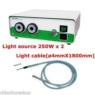 Halogen Light Source 2X250W & Fiber Cable ø4X1800mm Richard Connector Fit Wolf