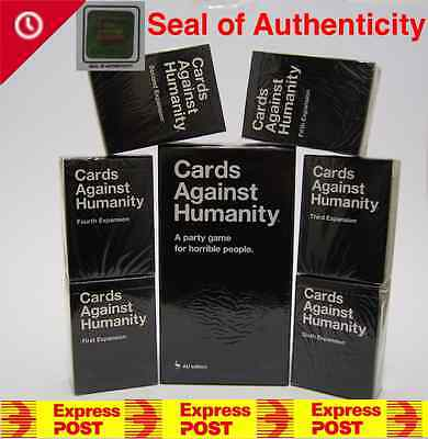 Cards Against Humanity V1.7 Australian Main Base Set + 123456 Expansions 1-6