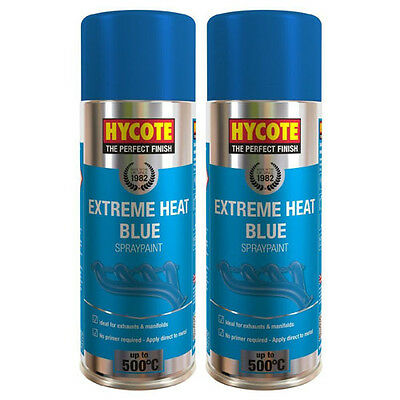Hycote Very High Temperature Blue 2 Spray Cans Paint 400ml