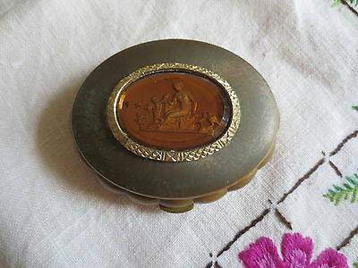Kiku Made In England Powder Compact Musical Concerto Clean Inside Vintage