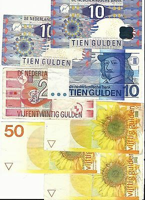 Netherlands Total: 205 Gulden banknote lot #6672