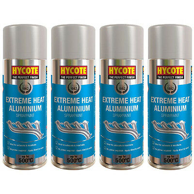 Hycote Very High Temperature Aluminium 4 Spray Cans Paint 400ml