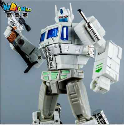 Cool change white MP10V Transformers Optimus Prime flat alloy version of the OP