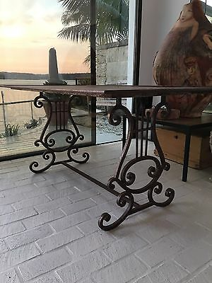 Antique French Iron Table