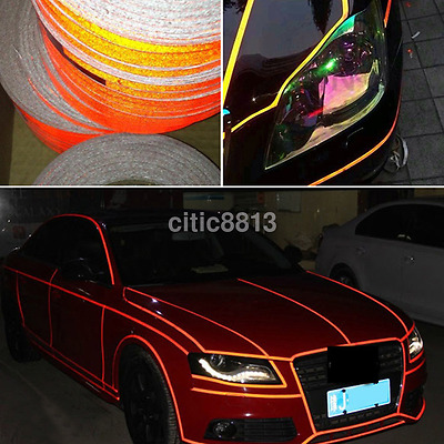 Car Reflective Strip Stickers Motorcycle Sticker Decal Tape Exterior Accessories