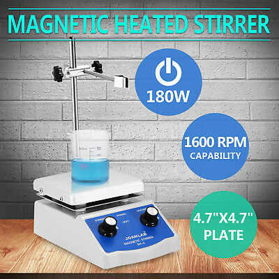 SH-2 Magnetic Stirrer With Hot Plate Heating Thermostatic Dual Control Anodised