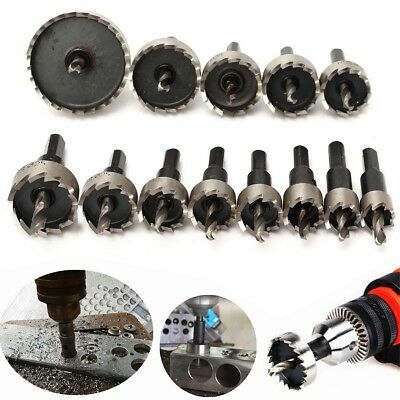 13 Pcs Hole Saw Tooth HSS Drill Kit Steel Bits Cutter Tool For Metal Wood Alloy