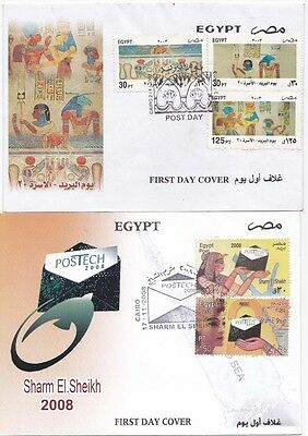 Egypt  2003/08 FDC Sharm El Sheikh and  Wall Art{Two covers}