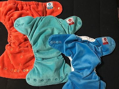 3 Itty Bitty Modern Cloth Nappies With Inserts