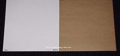 """Kaisercraft 'SMOOTH CARDSTOCK' 12X12"""" (Choose from 2 Colours) 2 for $1.25 KAISER"""