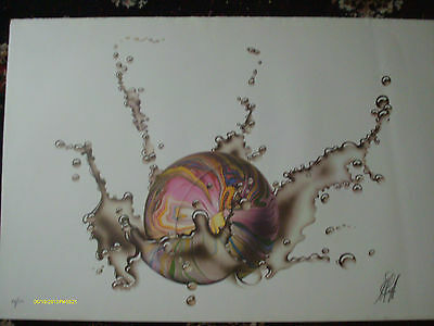 MICHAEL ENGLISH ' BALL from  the ' strikes water '  series   - Signed Print 70s