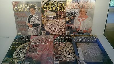 Old Time Crochet Magazine Lot of 7 Back Issues 1980's and 1990's