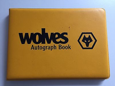RARE Wolverhampton Wanderers Signed Autograph Book + COA WOLVES FOOTBALL