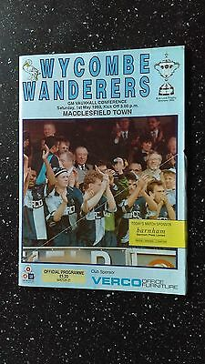 Wycombe Wanderers V Macclesfield Town 1992-93