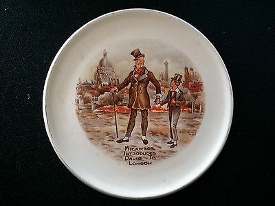 Rare Antique Wilkins Micawber David Copperfield Charles Dickens Hot Plate Dish