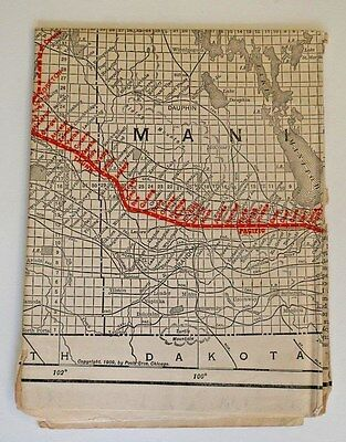 1909 Grand-Trunk Canadian Pacific Railway Settlers Township Map