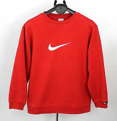 Nike Red Vintage Sweater Sweatshirt Jumper Rare Age 12/13Yrs Size L (Sw284)