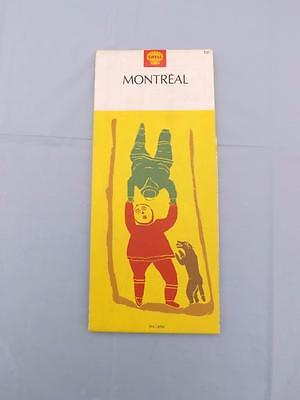 Shell Montreal Canada Road Map 1970 Travel Tourist Play Cover