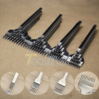 2018 Leather Craft Tools Hole Chisel Graving Stitching Punch Tool Set 3,4,5,6MM