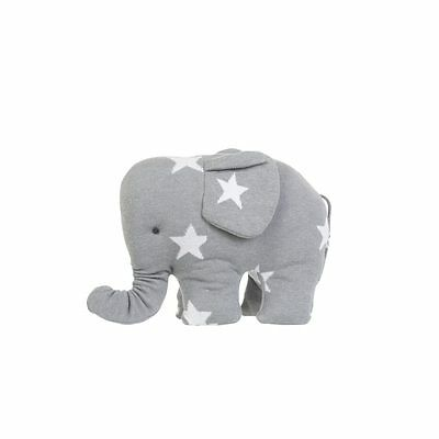 Baby's Only Light Grey Elephant with White Stars