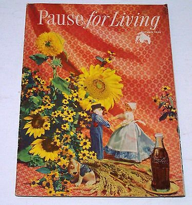 Vintage 1958 Coca Cola Booklet ~ Pause For Living