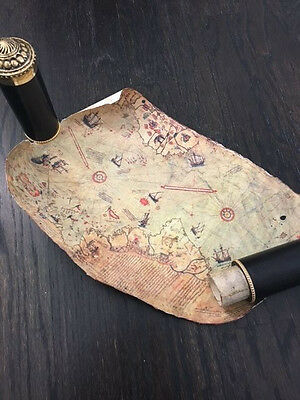 Antique Scroll Map