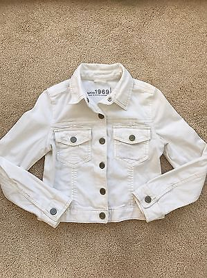 GAP Kid's White Jean Jacket - Size L
