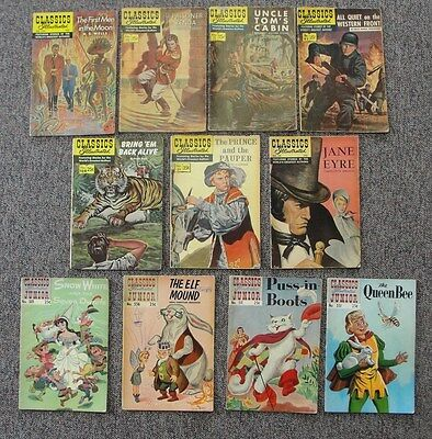 8 Classic Illustrated, & 4 Classic Illustrated Junior Silver Age Comics