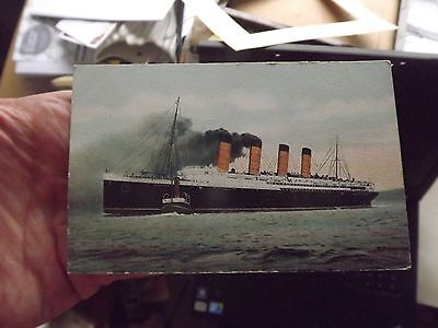 Antique Postcard Lusitania State Publishing Co Liverpool Unused