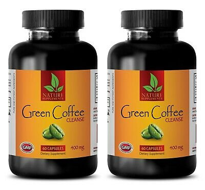 Green coffee turbo - PURE GREEN COFFEE CLEANSE - weight loss detox - 2 Bottles