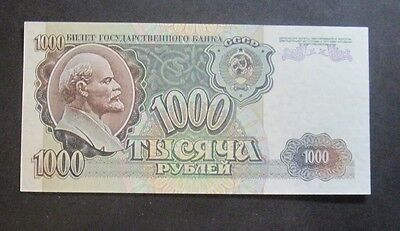 1000 rubles 1992 Russia USSR, absolutely new ! without folds !