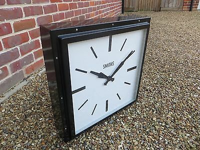 Large Industrial Style Smiths Metal Railway Factory Clock - Vintage Decorative