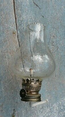 vintage oil lamp glass shade