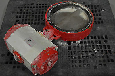"Used - 18"" Dia. Bray Butterfly Valve With Actuator"