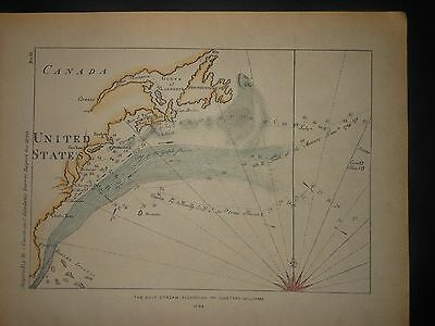 Gulf Stream 1799 Map By Jonathan Williams Hand color United States Canada