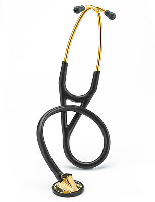 3m LITTMANN MASTER CARDIOLOGY Stethoscope *BLACK w/BRASS finish* NEW  2175