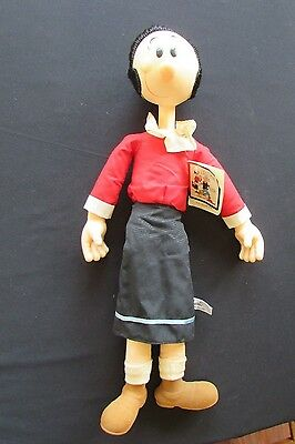 Olive Oyl Vintage Stuffed Vinyl Doll With Tag Presents King Features Syndicate