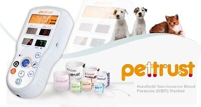 Petrust True Veterinary Blood Pressure monitor with 7 cuffs for Dog/Cat