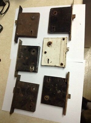 VTG Antique MORTISE Door Locks Lot of 6 Yale *AS IS* Untested