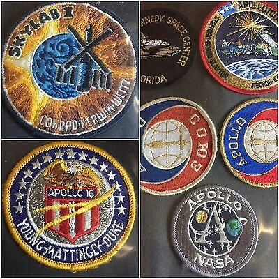 Lot Of 7 NASA Apollo Skylab Space Exploration Patches